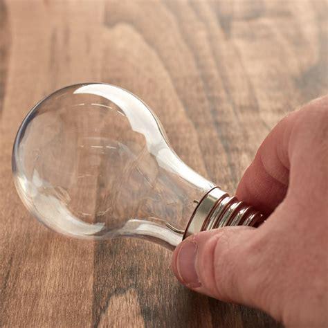 acrylic fillable light bulb ornament acrylic fillable