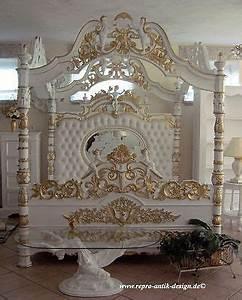 Barock Möbel Weiß : himmelbett bett wei gold barock engel barockbett prunkbett mahagoni massivholz in m bel ~ Markanthonyermac.com Haus und Dekorationen