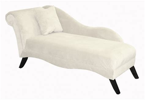 furniture retro style white chaise lounge chair black