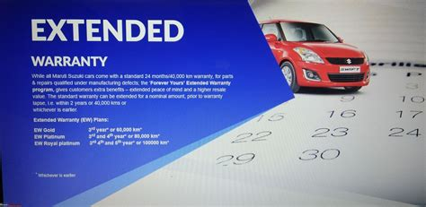 Suzuki Extended Warranty by Maruti Suzuki Introduces 5 Years 100 000 Km Extended
