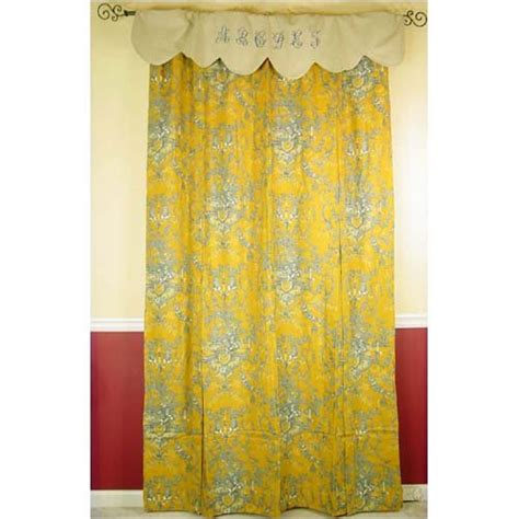 mustard yellow gray toile alphabet figural blind or