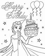 Birthday Pages Disney Coloring Printable Card sketch template