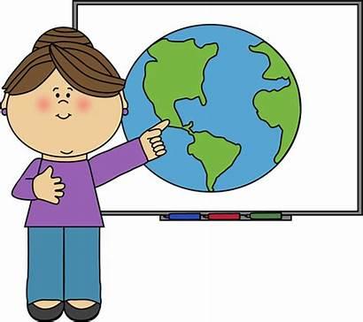 Teacher Smartboard Clip Teachers Pointing Teaching Standing