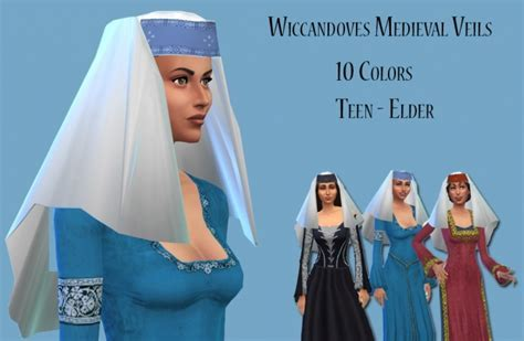 Medieval Veils at Wiccandove » Sims 4 Updates
