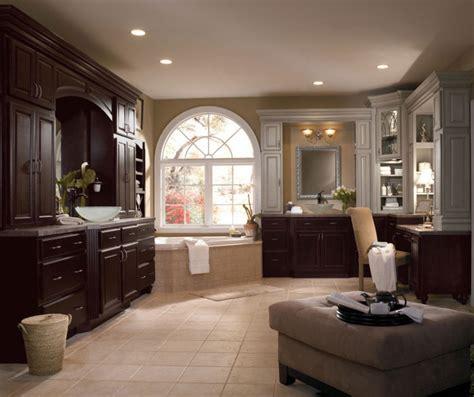 dark wood cabinets  traditional bathroom diamond