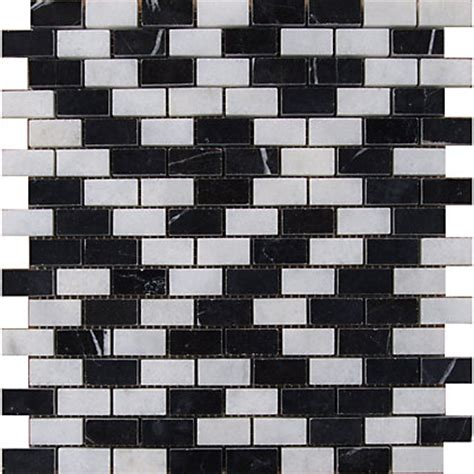 black and white mosaic tiles black and white marble brick mosaic tiles 255 x 255mm