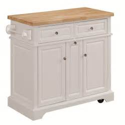Kitchen Island Or Cart Shop Tresanti Summerville White Adjustable Kitchen Cart At Lowes