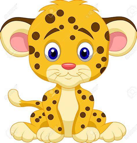 baby leopard clipart beb 233 leopardo de dibujos animados ilustraciones