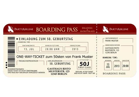 boarding pass flugticket einladungskarten erstelle