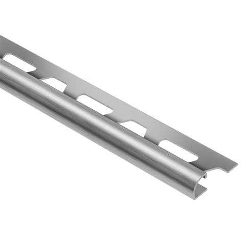 schluter rondec brushed stainless steel 3 8 in x 8 ft 2