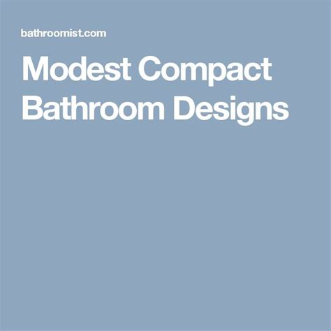 Compact Bathroom Designs by Best 25 Compact Bathroom Ideas On Narrow