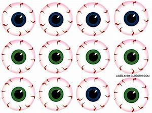 Halloween Slush Drink With Eyeball Printables