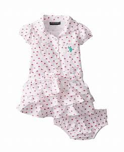 Cute U.S. Polo Assn. Baby Girls' Twill Heart Print Ruffle ...