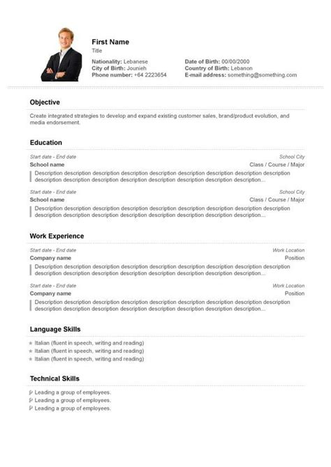 Free Resume Builder Templates by Pin By Resumejob On Resume Free Resume Builder