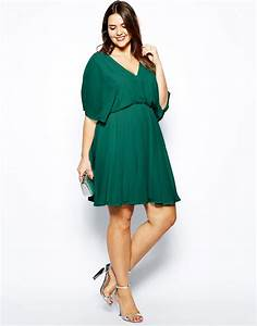 image 4 exclusivite asos curve robe a manches ange With robes grandes tailles habillées