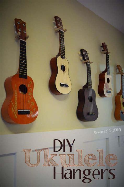 jute wrapped diy ukulele hangers ukulele diy guitar