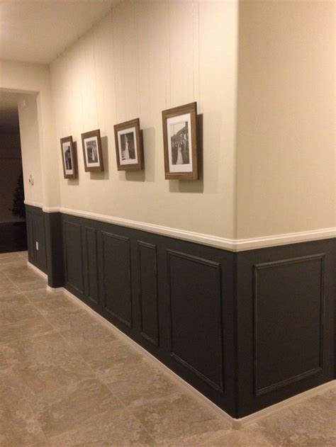 Chair Rail, Picture Frame Moulding, Dark Grey Home
