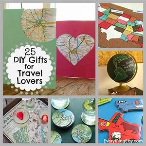 25 DIY Gifts for Travel Lovers map ideas