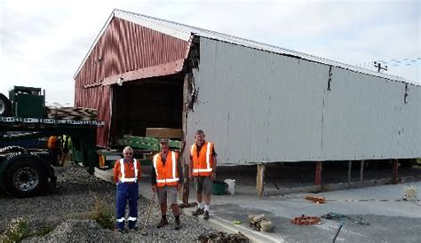 menz shed sized shed shifted to new home ashburton courier