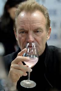Sting and Trudie Styler attend the Prowein wine exhibition ...