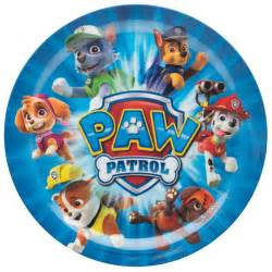 Paw Patrol Kids Plates for sale Chase, Rubble, Rocky