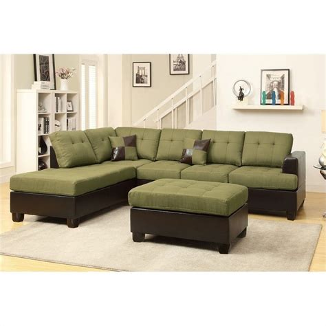 Poundex Reversible Sectional Sofa by Poundex Bobkona Winden 3 Reversible Sectional Sofa