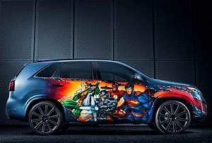 Kia Reveals Unique Justice League Car At Comic-Con