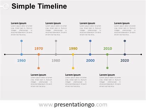 simple timeline powerpoint diagram presentationgocom