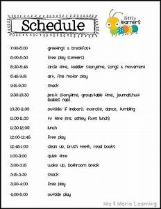 best 25 daycare schedule ideas on pinterest childcare With child care daily routine template