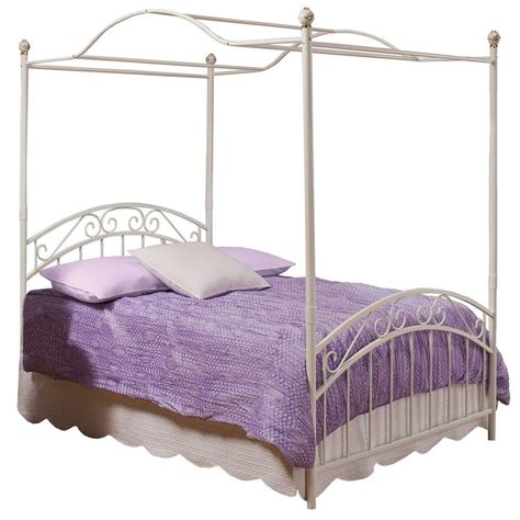 Hillsdale Furniture Emily Fullsize Canopy Bed In White