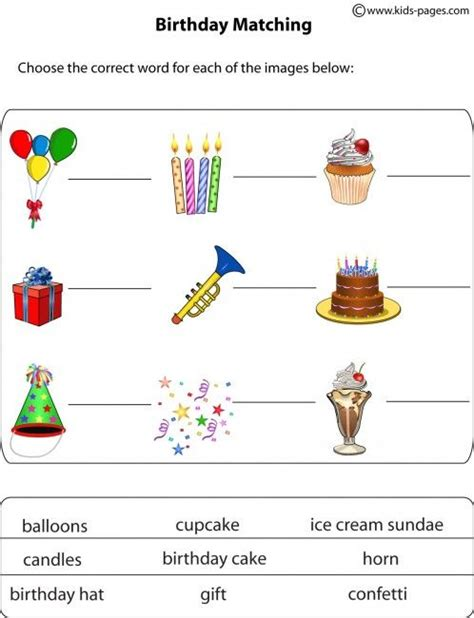 happy birthday worksheets hand outs pinterest