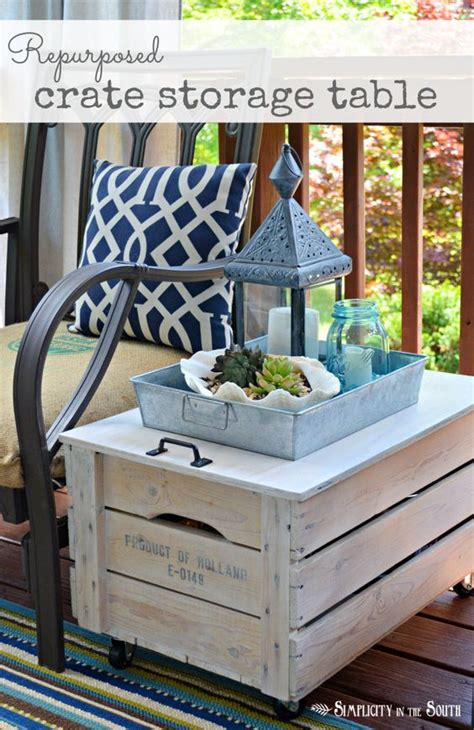 20 great diy furniture projects on a budget style motivation repurposed wooden shipping crate table shipping crates