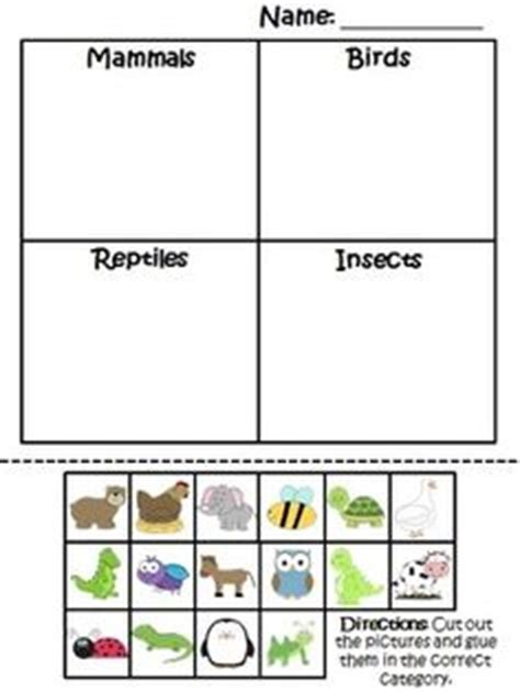 This Is A Great Activity For The Students To Understand That Not All Animals Are Alike In This