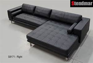 132 x 71quot extra wide chaise modern leather sectional sofa With sectional sofa with extra wide chaise