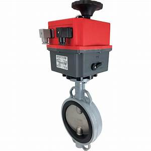 6 U2033 Electric Actuated Butterfly Valve  Wafer  Epdm  24