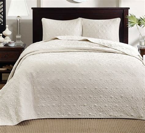 Matelasse Coverlet King Size by Ivory Matelasse 3pc King Bedspread Set Cotton Fill Quilt