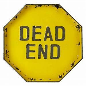 DEAD END metal sign in yellow H 50cm Maisons du Monde