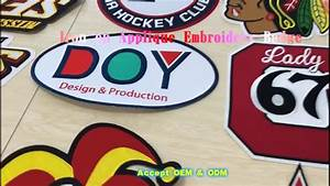wholesale custom embroidery iron on chenille letters With buy iron on letters in bulk