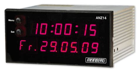 anznet time date display ntp synchronized reference
