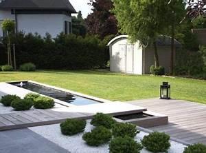 decoration jardin moderne With lovely jardin avec gravier blanc 10 patio et petit jardin moderne des idees de design d