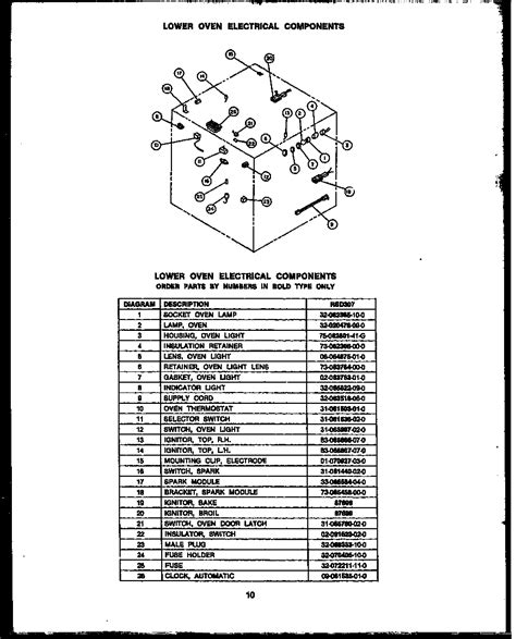 Dacor Wiring Diagram by Dacor Rsd30 Gas Ranges Timer Stove Clocks And Appliance
