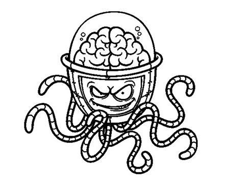 sta e colora minecraft disegno di cervello meccanico da colorare acolore