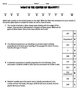 Direct Variation Practice Worksheet  Riddle  Fun By Texas Math Teacher