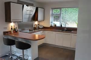 ideas for kitchen worktops gloss white slab wood effect laminate worktop hallmark kitchen designs