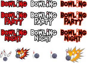 Bowling Night Clip Art