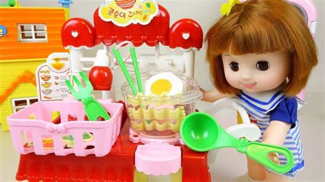 Baby Doll Kitchen Toys Cooking Noodle And Food Shop Pororo