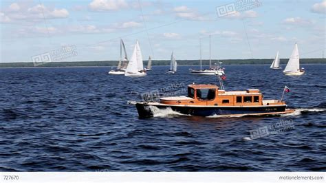 Motorboat Earth by Fast Motorboat Stock Footage 727670