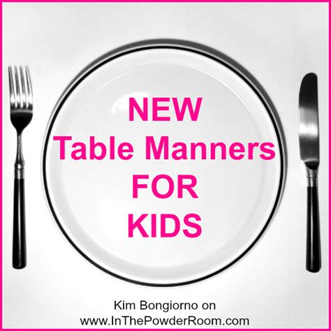 table manners for kids list of bad manners for kids