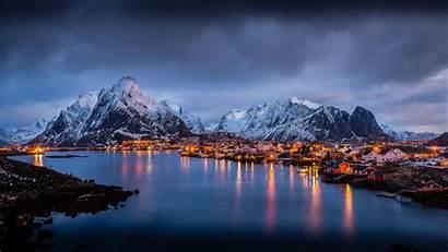 Desktop Pc Winter Norway Landscape Lofoten Europe