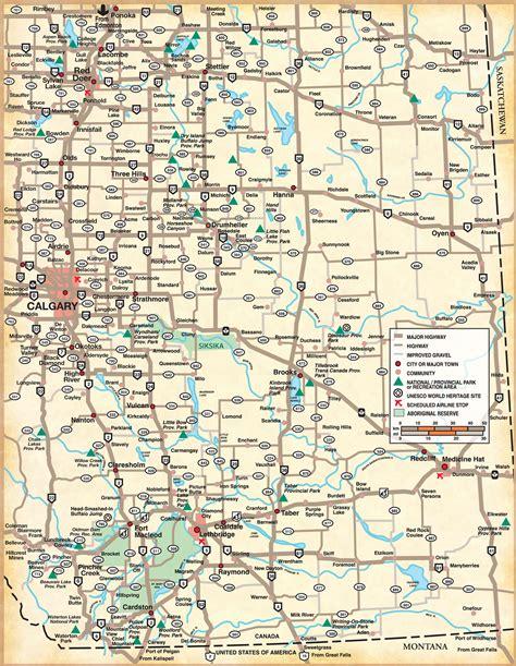 southern alberta map countess canada mappery